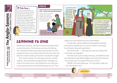 Study and Learning - Comprehension Worksheet - Anglo-Saxon Britain KS2