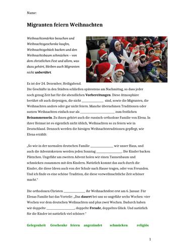 Migranten feiern Weihnachten