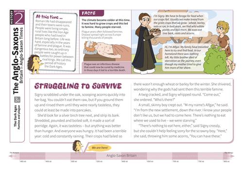 Famine and Plague - Comprehension Worksheet - Anglo-Saxon Britain KS2
