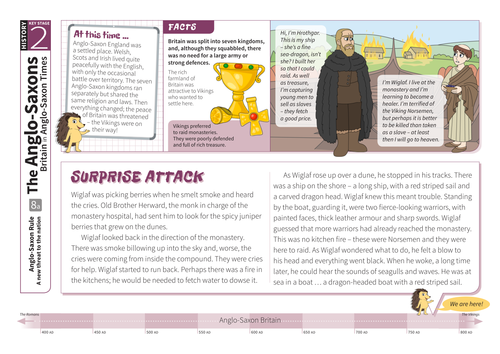 A New Threat to the Nation - Comprehension Worksheet - Anglo-Saxon Britain KS2