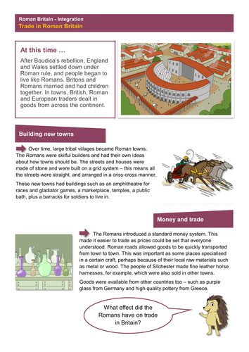 Trade - Worksheet - Roman Britain KS2