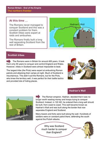 The Northern Frontier - Worksheet - Roman Britain KS2