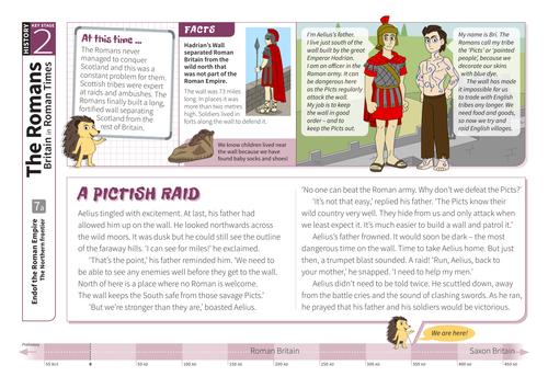 The Northern Frontier - Comprehension Worksheet - Roman Britain KS2