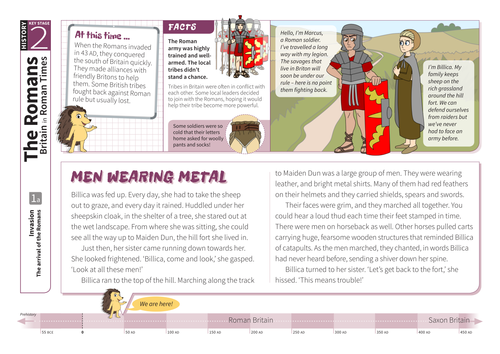 The Arrival of the Romans - Comprehension Worksheet - Roman Britain KS2