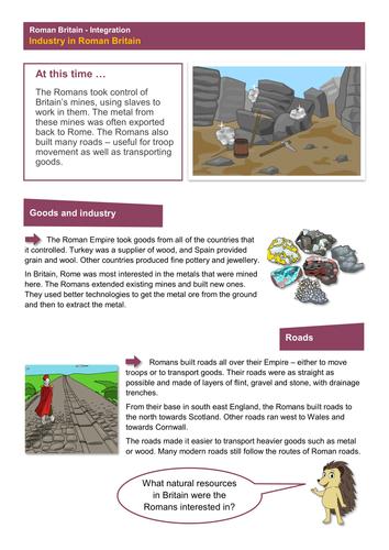 Industry - Worksheet - Roman Britain KS2