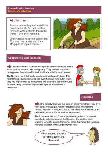 Boudica's Rebellion - Worksheet - Roman Britain KS2