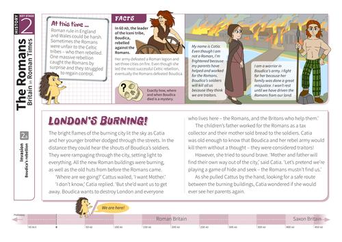 Boudica's Rebellion - Comprehension Worksheet - Roman Britain KS2
