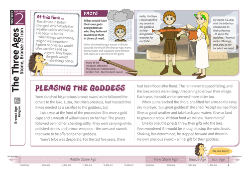 Religion - Comprehension Worksheet - The Bronze Age KS2