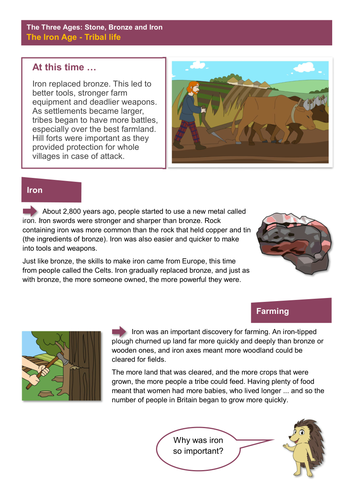 Tribal Life - Worksheet - The Iron Age KS2