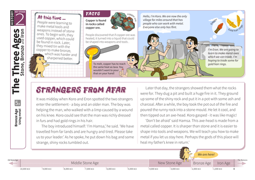 Using Metal - Comprehension Worksheet - The Bronze Age KS2