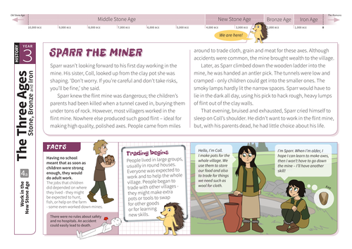 Work and Trade - Comprehension Worksheet - The Stone Age KS2
