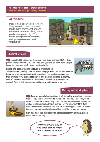 The New Stone Age: Everyday Life Worksheet - The Stone Age KS2