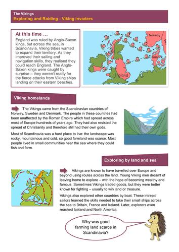 Invaders - Worksheet - The Vikings KS2