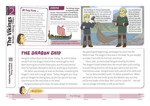 Invaders - Comprehension Worksheet - The Vikings KS2