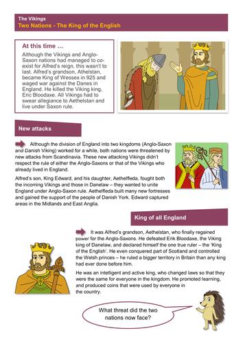 King of the English - Worksheet - The Vikings KS2