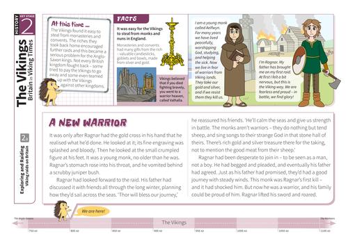 Raids on Britain - Comprehension Worksheet - The Vikings KS2