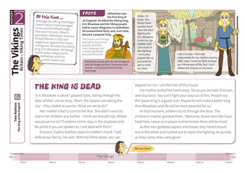 King of the English - Comprehension Worksheet - The Vikings KS2