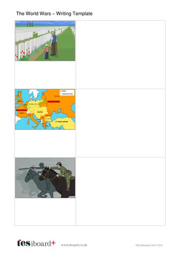 Writing Template - The World Wars KS2