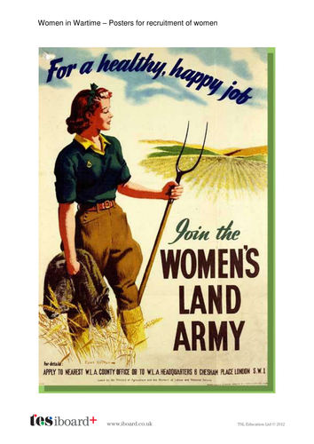 Women in the World Wars Poster Library - KS2