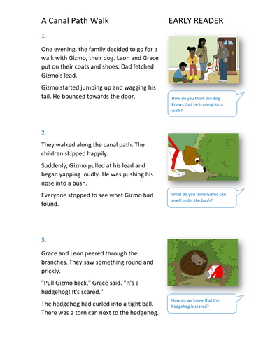 A Canal Path Walk Storybook - Early Reader Level - PSHE KS1