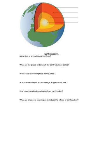 Earthquake Assessment /Quiz