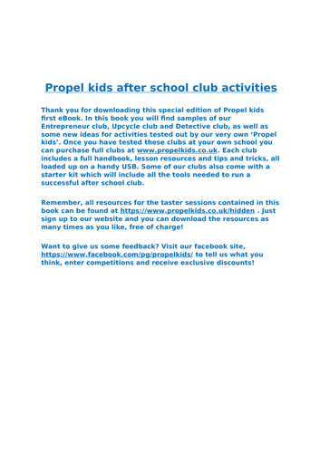 Activities booklet - Detectives, recycling, slime and much more!