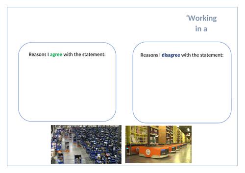 GCSE English lesson plan & resources (Paper 2 Question 5)
