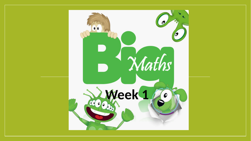 Big Maths CLIC PowerPoint - Year 2 spring 2