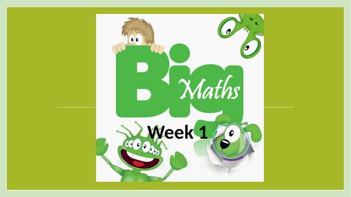 Big Maths CLIC PowerPoint - Year 4 autumn 1