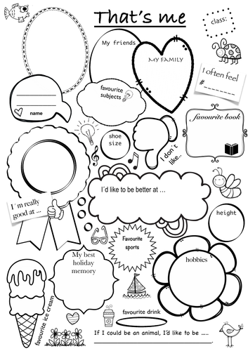 All about me That's me - student presentation / introduction ...