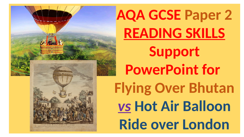 Teaching AQA Paper 2 Reading at GCSE - 11 Complete Lessons - Free taster resource