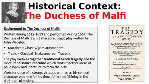 The Duchess of Malfi - Context