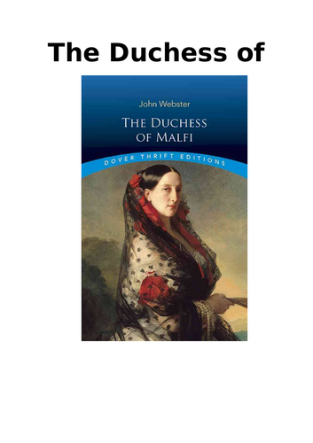 The Duchess of Malfi - Introduction Booklet