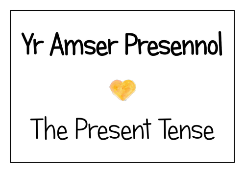 Welsh Present Tense Display