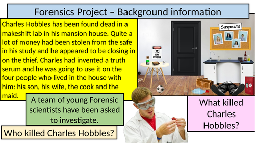 Forensics Project - Context Posters (introducing science at KS3 and lab safety) JACOSA SCHEME