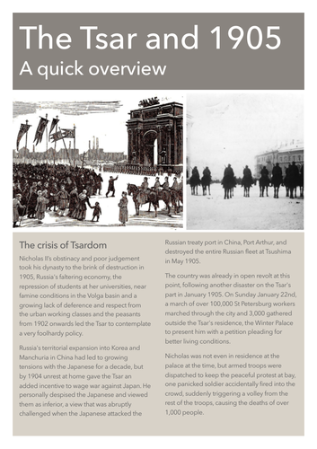 Russia's 1905 Revolution Notes