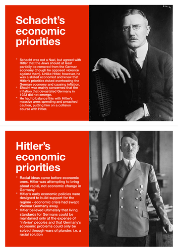 Hitler and Hjalmar Schacht fact file