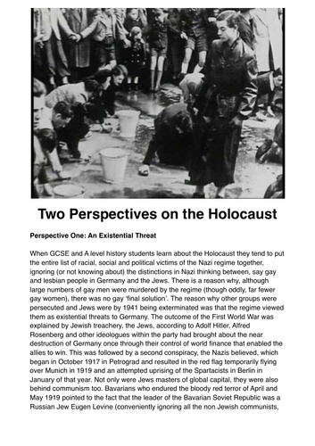 Holocaust Source Evaluation Exercise
