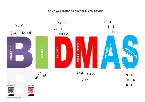 BIDMAS poster