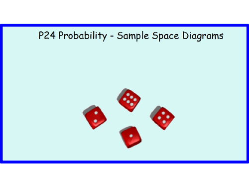 P24 Probability Sample Space Diagrams By Billy19821 Teaching