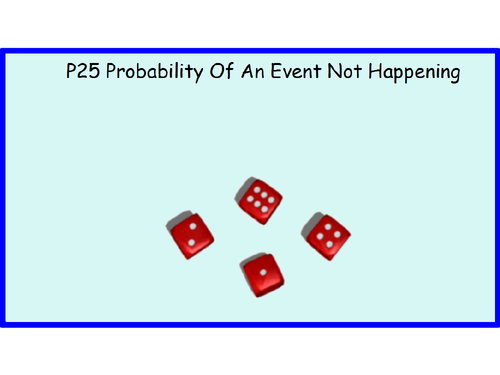 P25 Probability Of An Event Not Happening