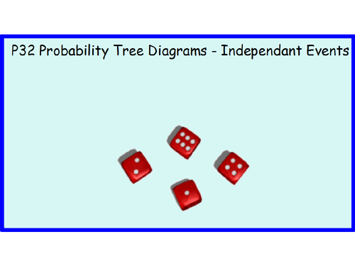 P32 Probability Tree Diagrams - Independant Events