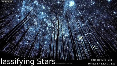 Unit 8 Lesson 3 Classifying stars Edexcel IGCSE Physics 1st examination 2019