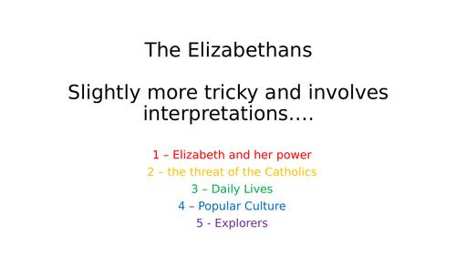OCR SHP The Elizabethans Revision Booklets Units 1 -5