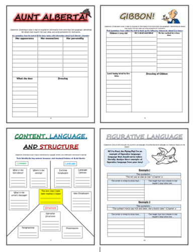 Awful Auntie KS2 Comprehension Activities Booklet!