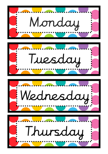Calendar Set (Rainbow Pop)