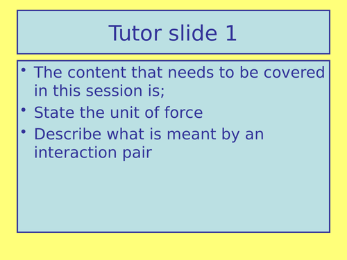 Lesson 1 Introduction to Forces. AQA Activate (New book) KS3 science unit 1 Forces