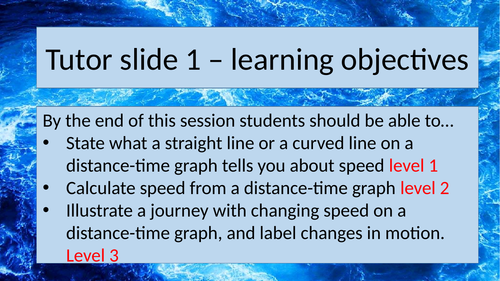 Distance - time graphs Activate 1 (new 2016 book) AQA SCience KS3