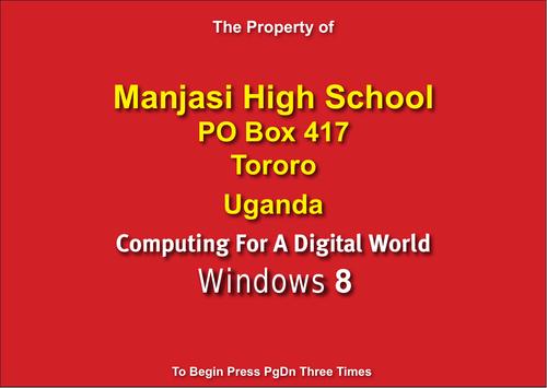 Personalised sample of Windows 8