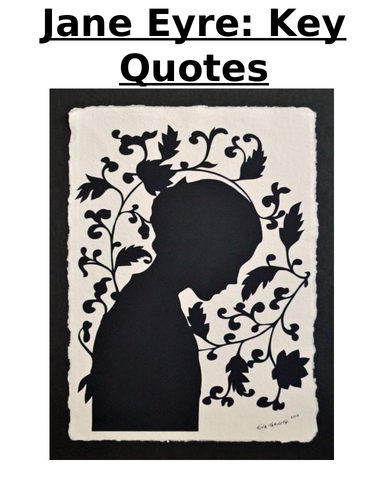 Jane Eyre Key Quotes Booklet